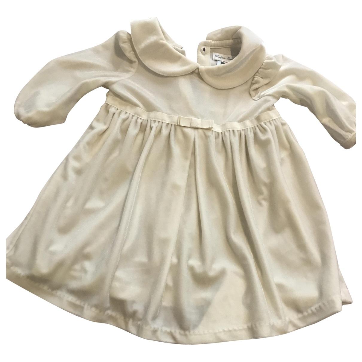 Ralph Lauren - Robe    pour enfant en velours - blanc