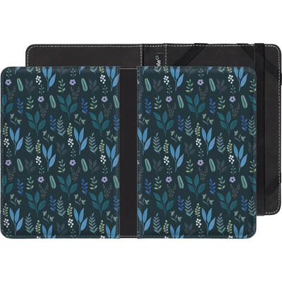 Amazon Kindle Touch eBook Reader Huelle - Blue Foliage von Iisa Monttinen