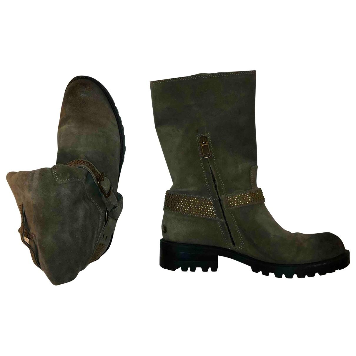 Liu.jo \N Brown Suede Boots for Women 38 EU