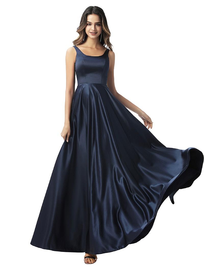 Ericdress Sleeveless Straps Floor-Length A-Line Prom Dress 2020