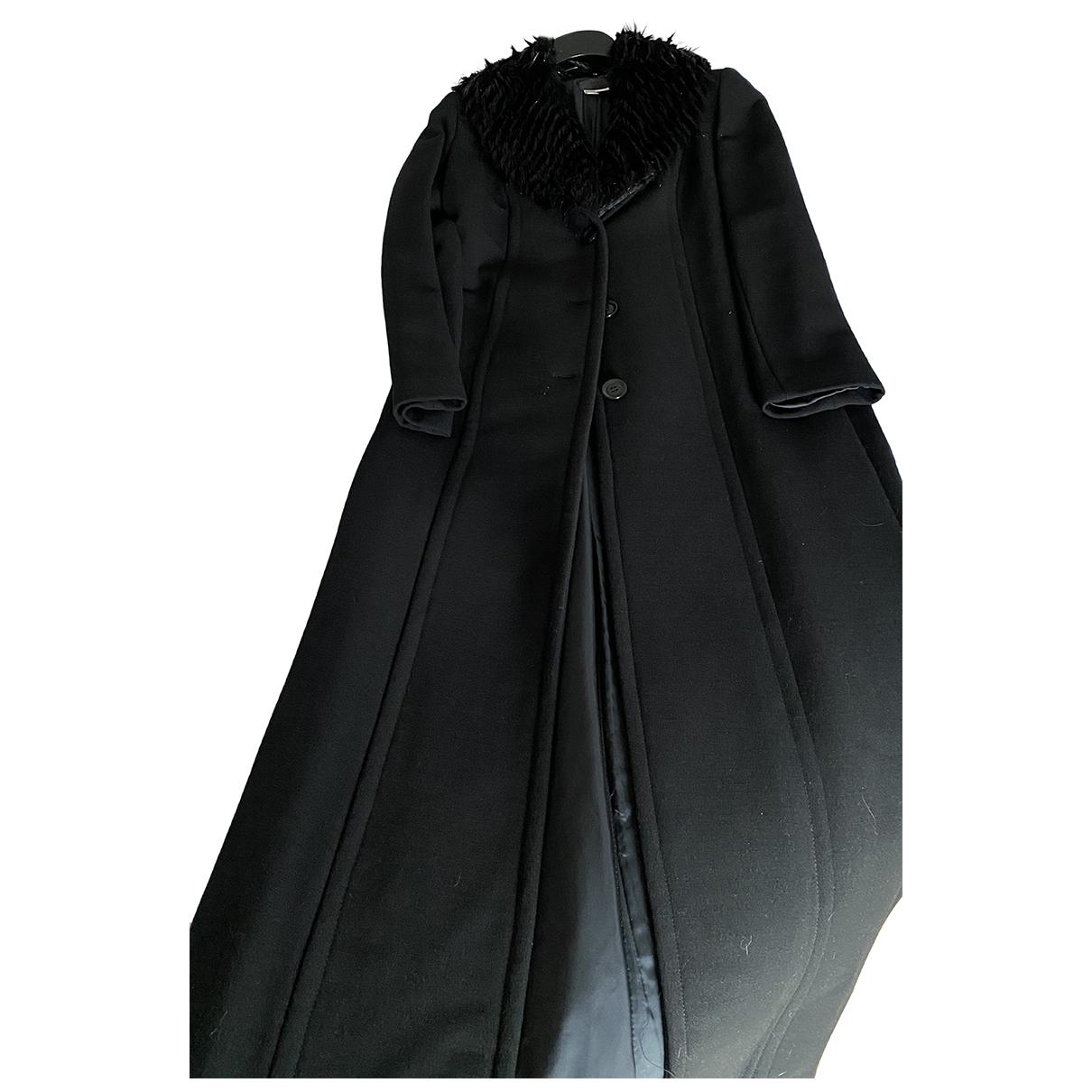 Zara - Manteau   pour femme en laine - noir