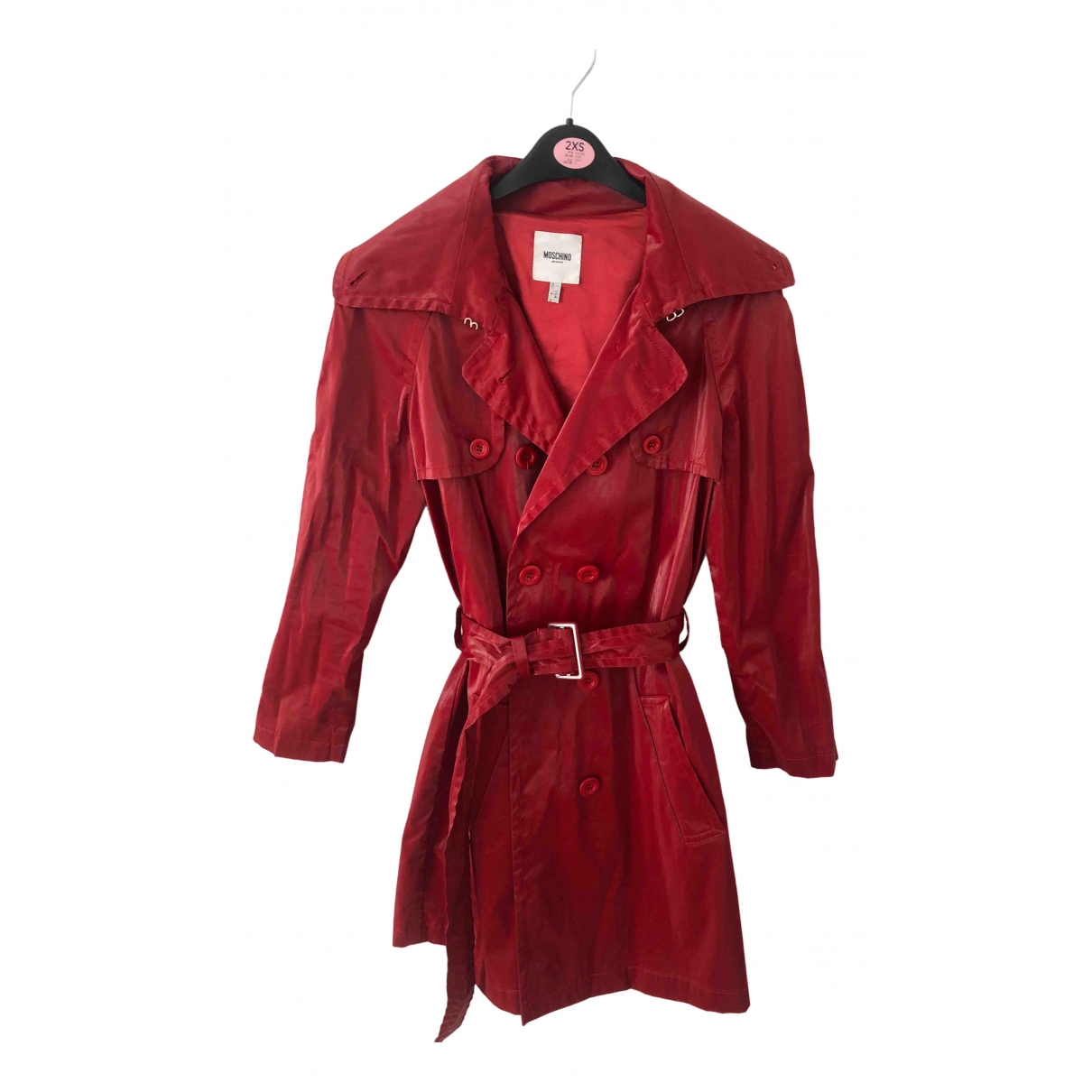 Moschino Cheap And Chic - Trench   pour femme - rouge