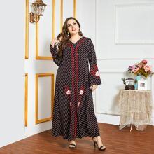 Vestido tunico con bordado floral