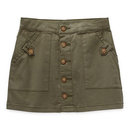 Arizona Little & Big Girls A-Line Skirt, 18.5 Plus , Green