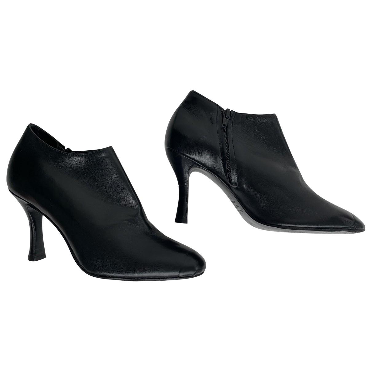 Furla \N Black Leather Heels for Women 37.5 EU