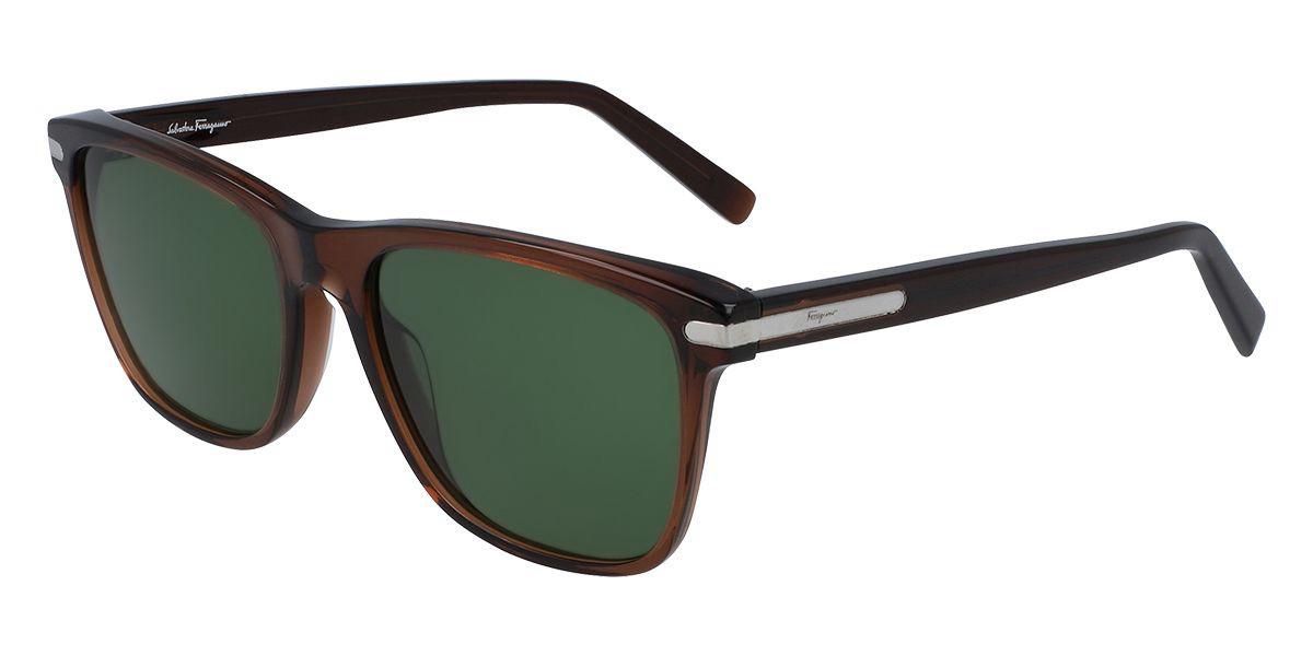 Salvatore Ferragamo SF992S 210 Men's Sunglasses Brown Size 57