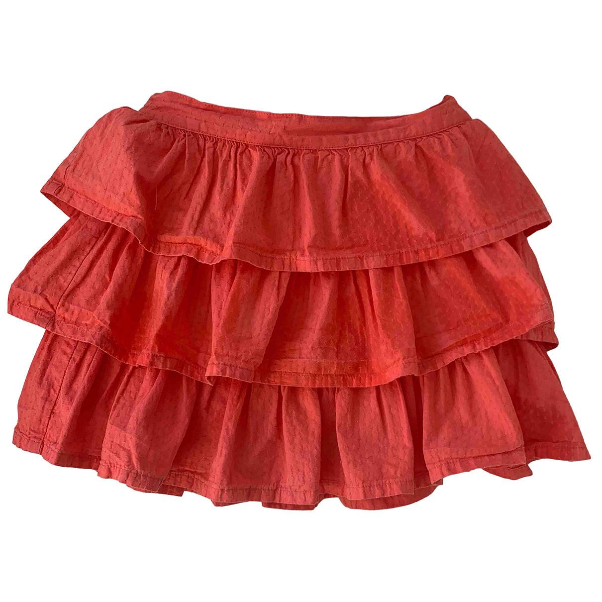 Petit Bateau N Orange Cotton skirt for Kids 3 years - up to 98cm FR