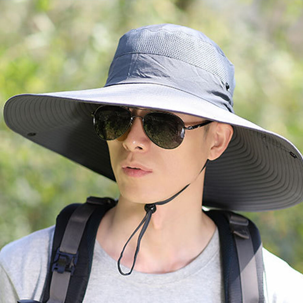 Hat Men's Fisherman Hat Oversized Penny Hat Breathable Climbing Sun Hat Outdoor Fishing Hat