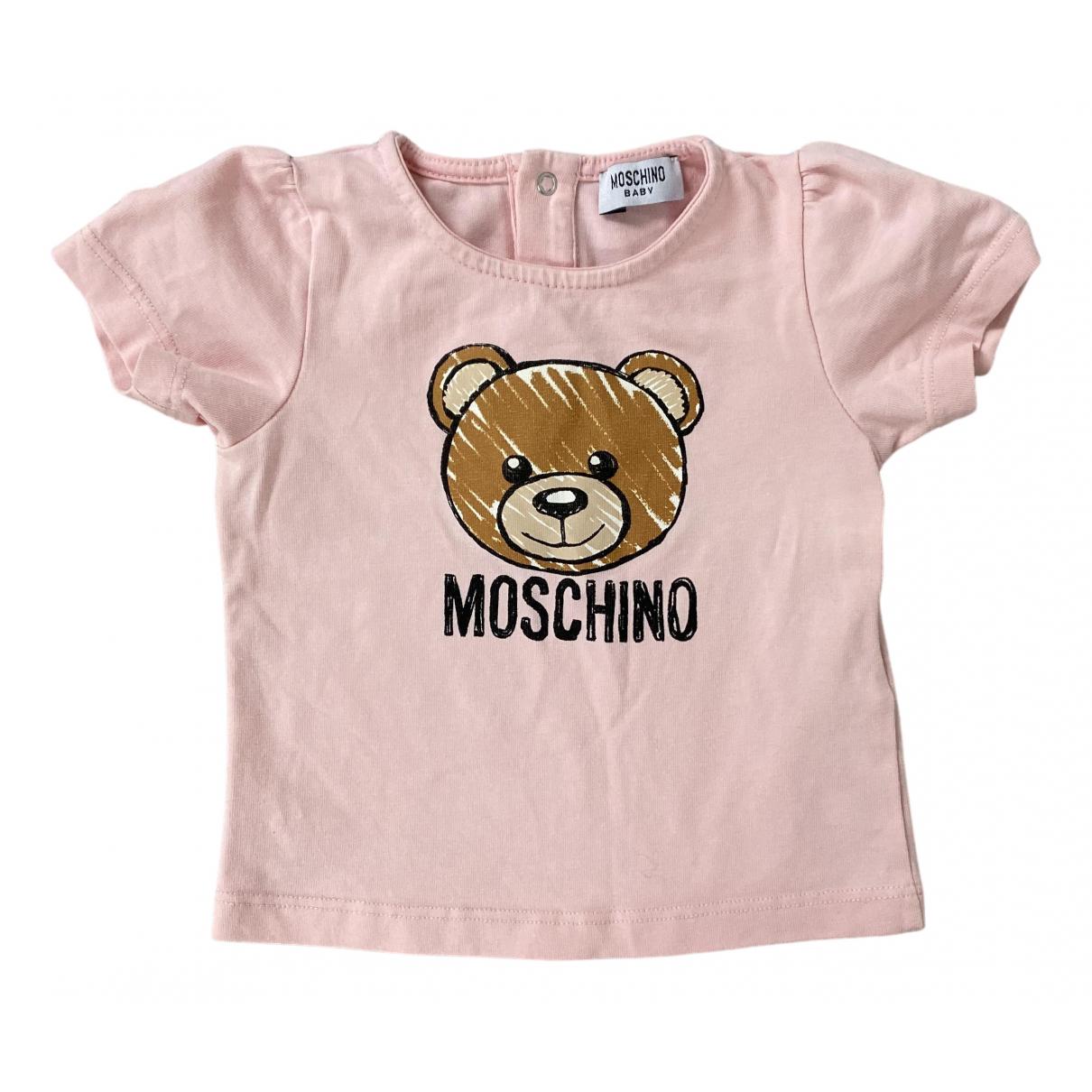 Moschino - Top   pour enfant en coton - rose