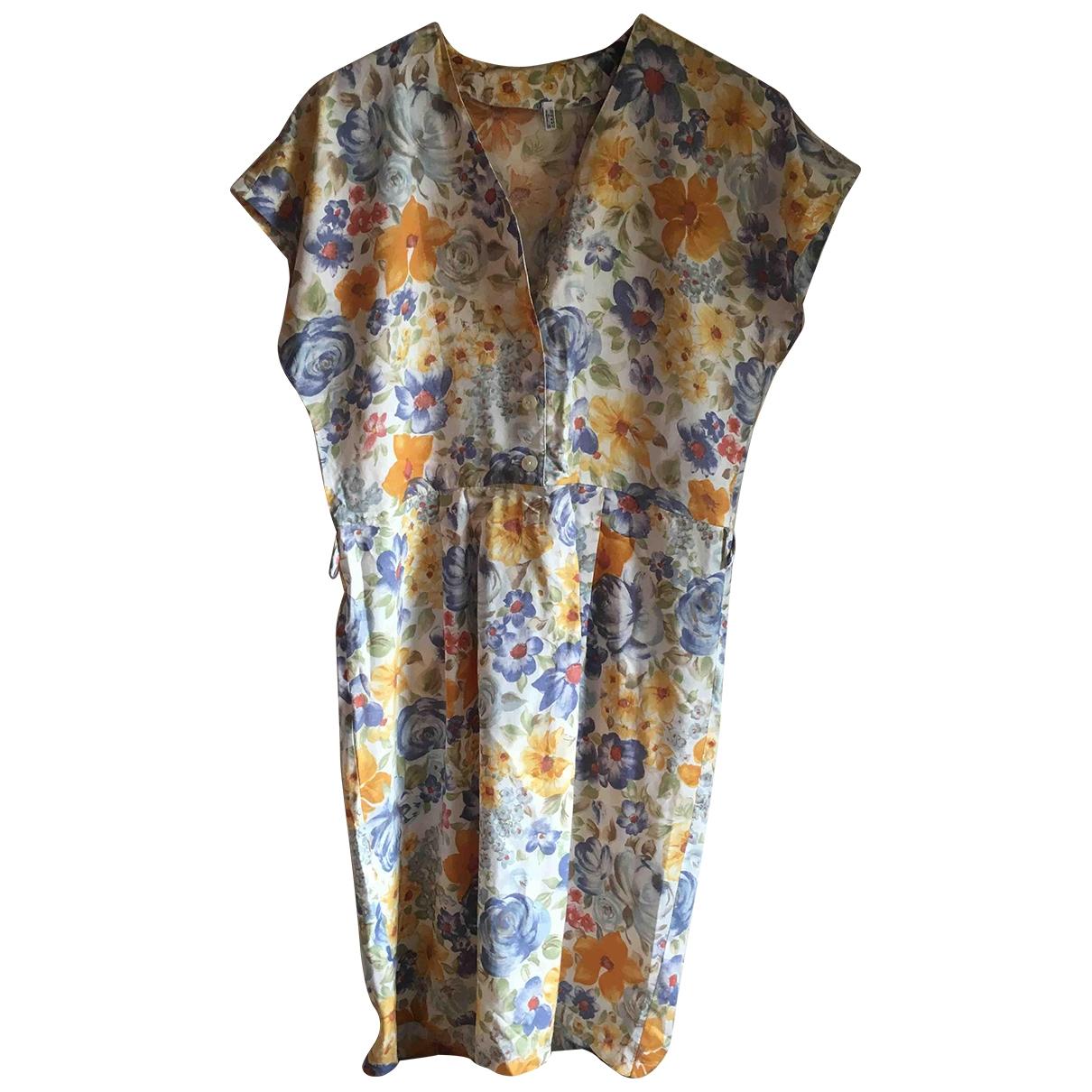 Non Signé / Unsigned \N Multicolour Cotton dress for Women 44 IT