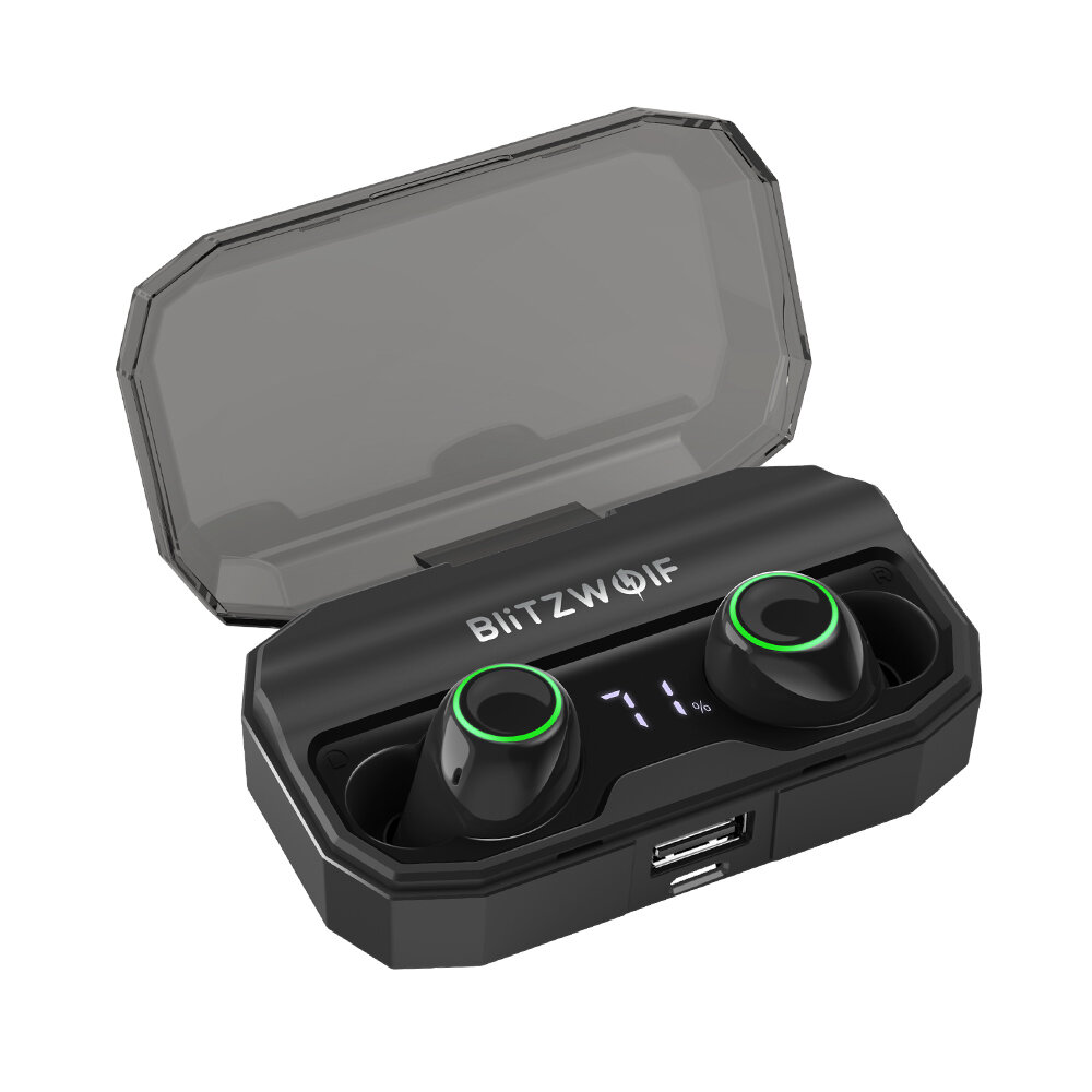 BlitzWolf® BW-FYE3S True Wireless bluetooth 5.0 Earphone Digital Power Display Smart Touch Bilateral Call Headphone with