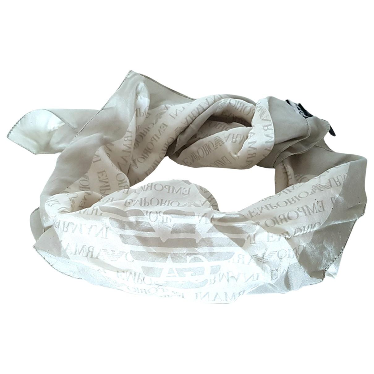Emporio Armani - Foulard   pour femme en soie - beige
