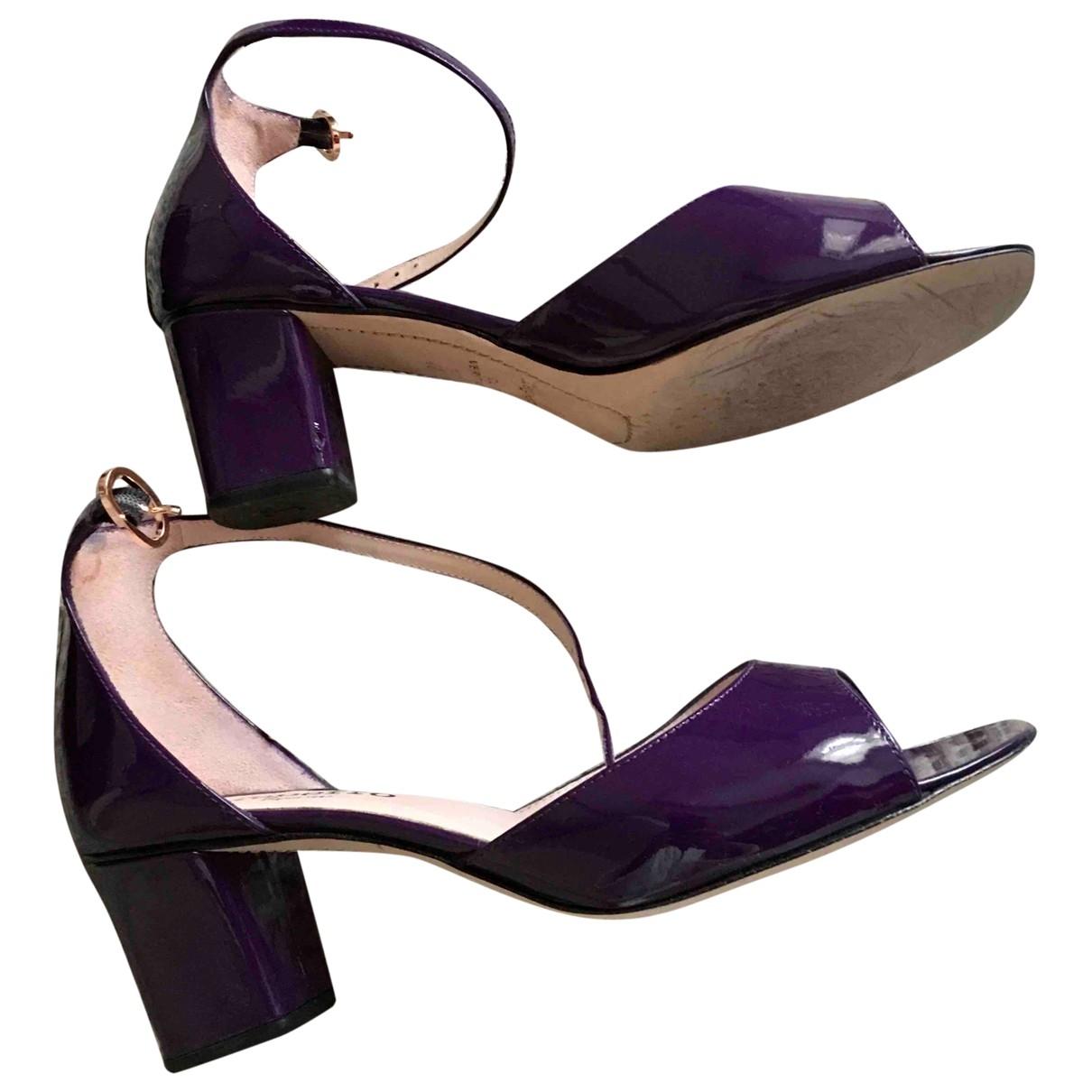 Repetto - Sandales   pour femme en cuir verni - violet