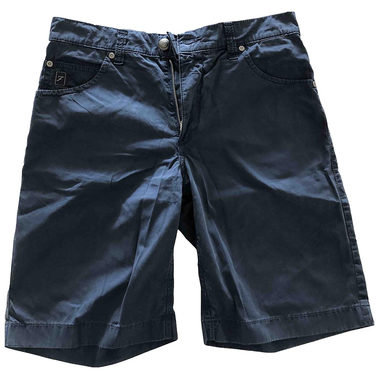 Fay \N Shorts in  Blau Baumwolle