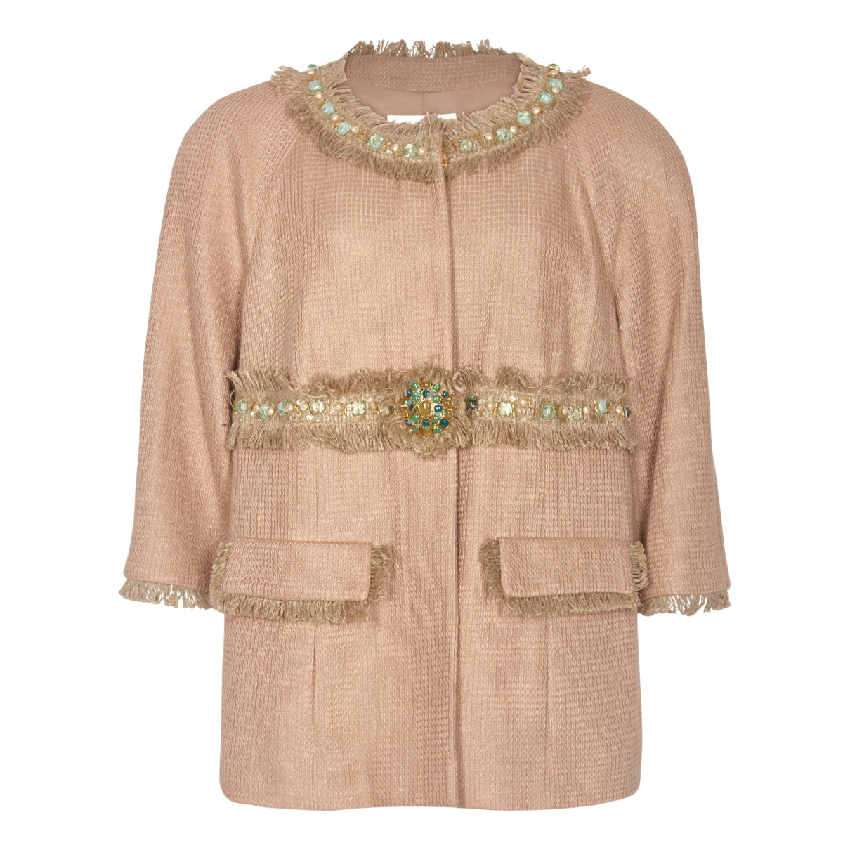 Chanel N Pink Cotton jacket for Women 18-20 UK