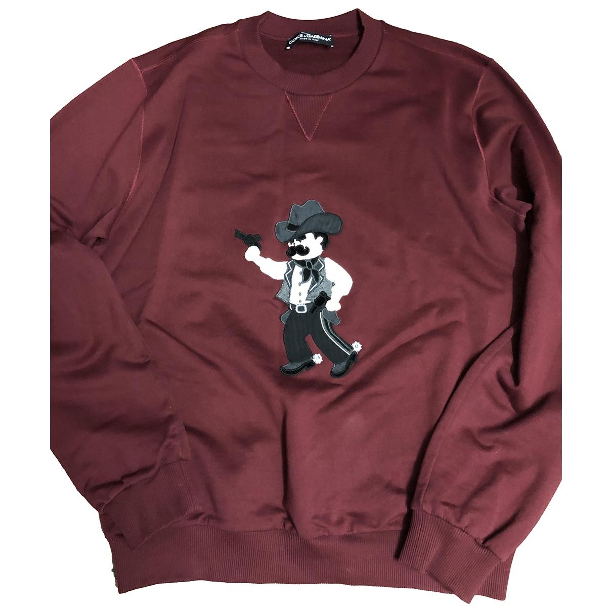 Dolce & Gabbana \N Pullover.Westen.Sweatshirts  in  Bordeauxrot Baumwolle