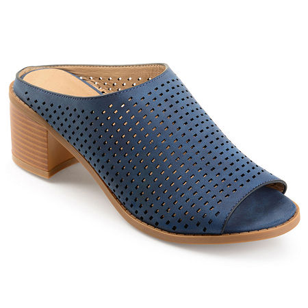 Journee Collection Womens Ziff Mules, 12 Medium, Blue