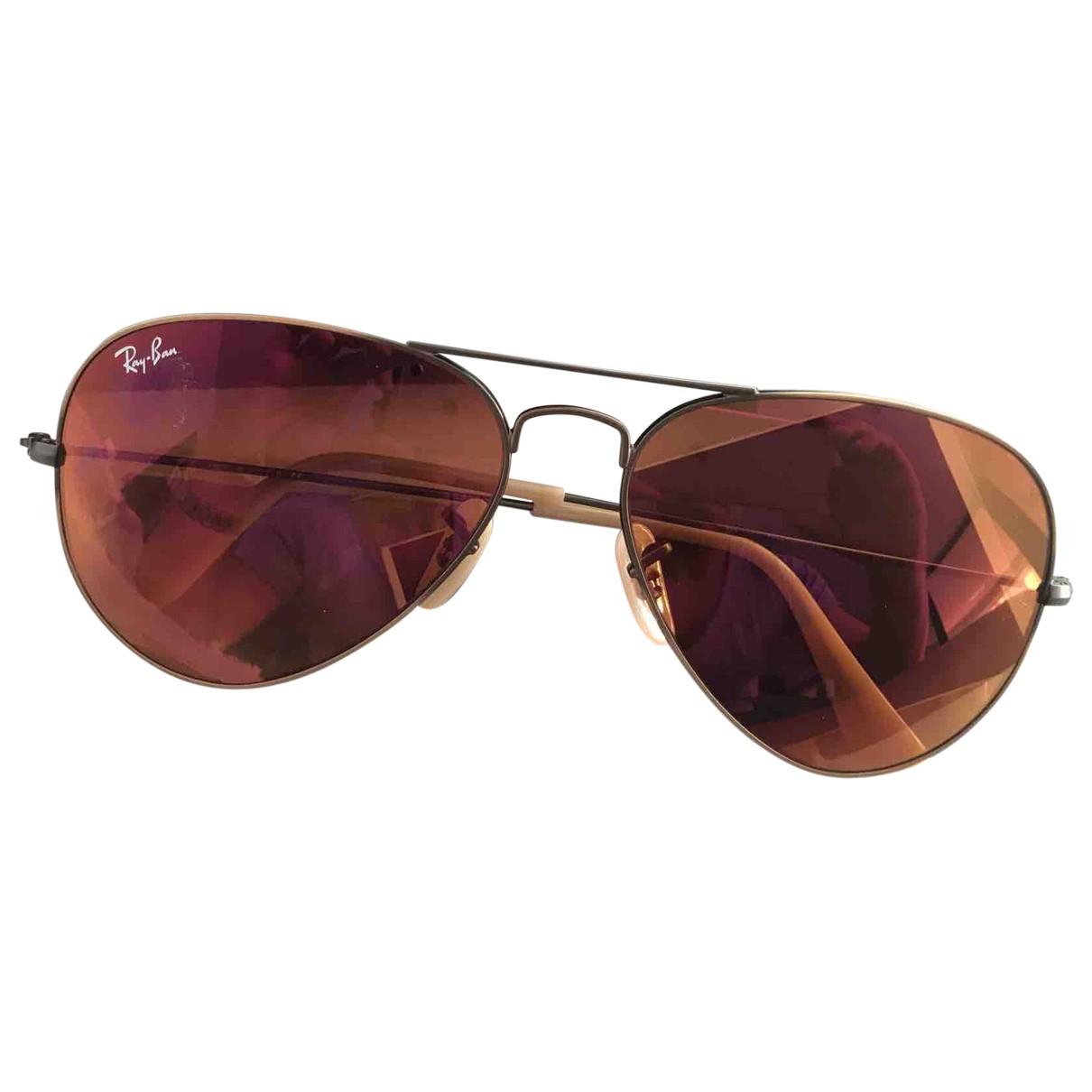 Ray-ban Aviator Burgundy Metal Sunglasses for Men \N