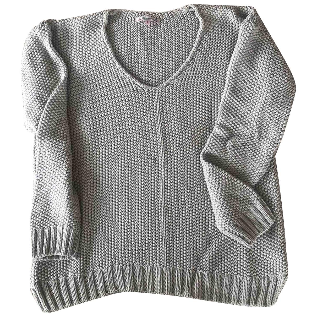 Bonpoint - Pull   pour femme en coton - gris