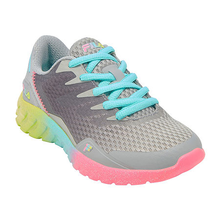 Fila Countdown 9 Girls Running Shoes, 5 Medium, Gray