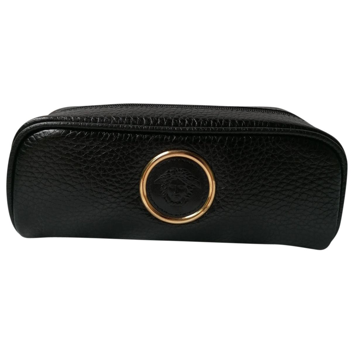 Gianni Versace \N Black Leather Purses, wallet & cases for Women \N