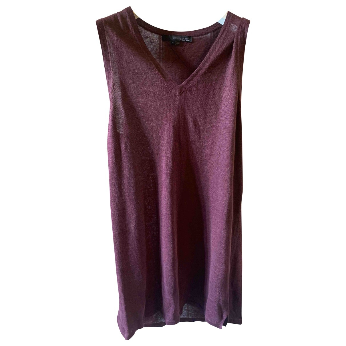360 Sweater \N Burgundy Linen dress for Women S International