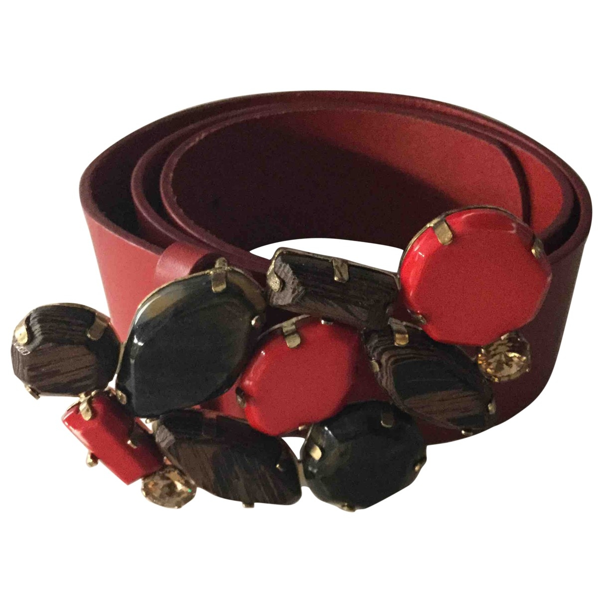 Blumarine \N Red Leather belt for Women 95 cm