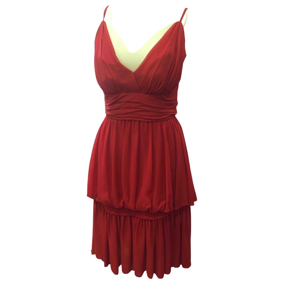 Chanel \N Kleid in  Rot Seide