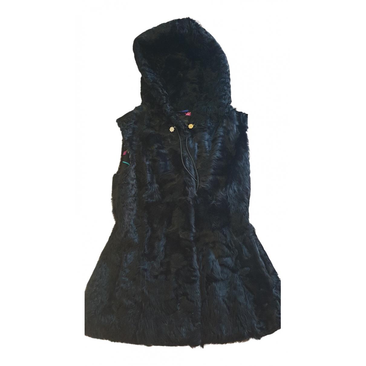 - Pull   pour femme en agneau de mongolie - noir