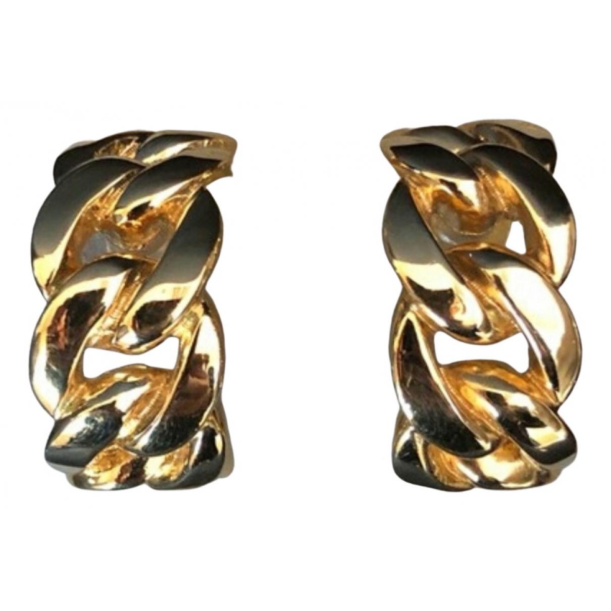 Dior - Boucles doreilles Gourmette pour femme en metal - dore