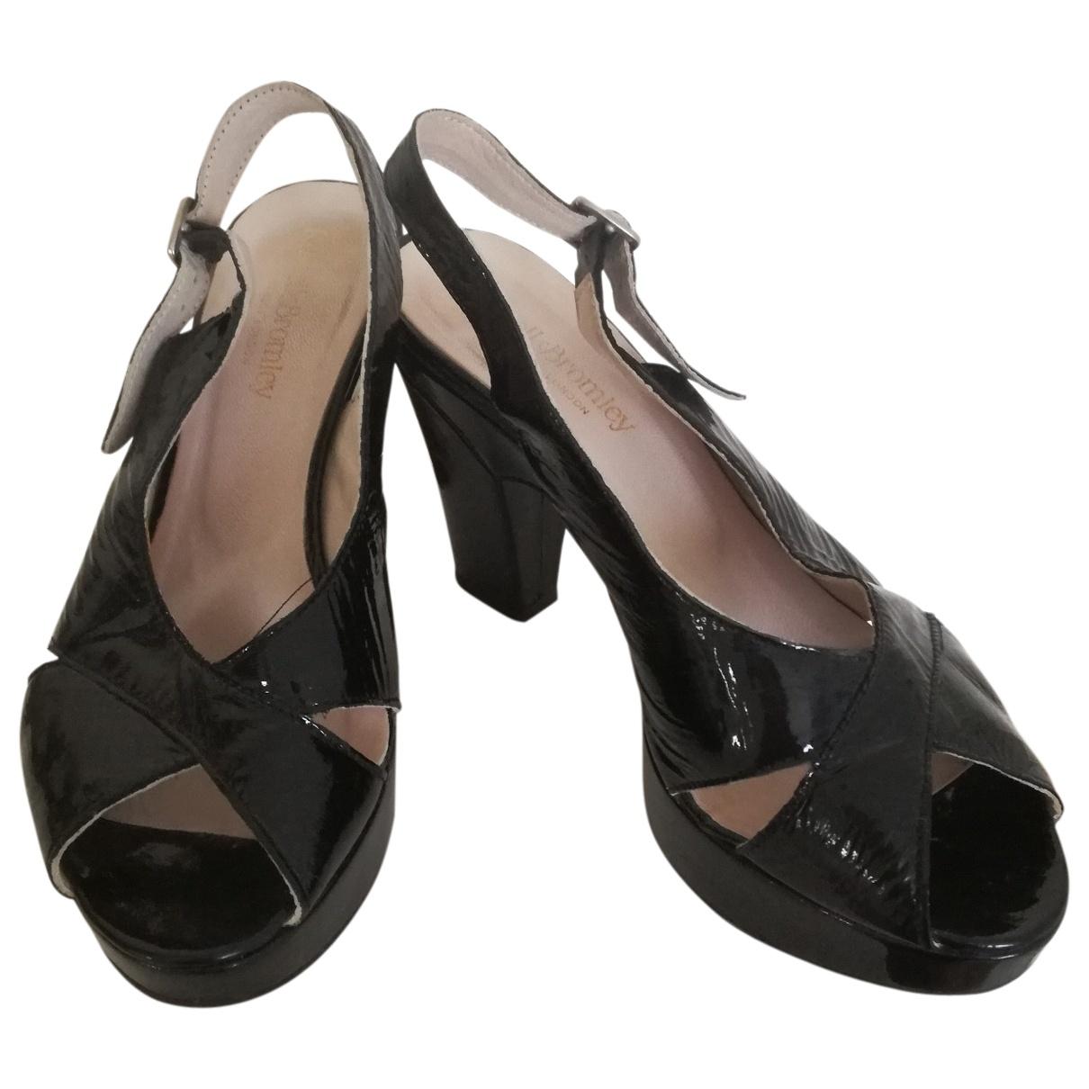 Russell & Bromley - Sandales   pour femme en cuir verni - noir