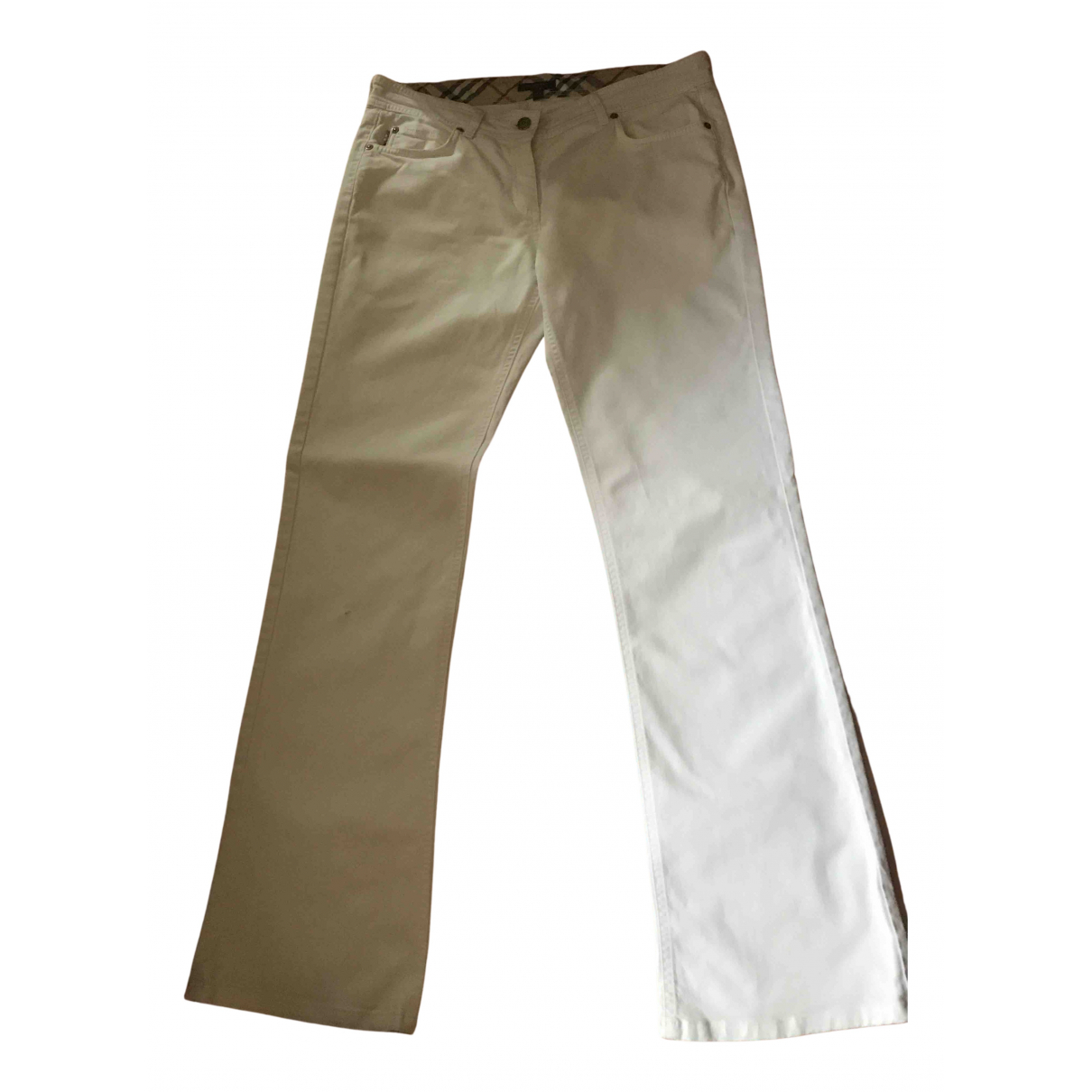Burberry N White Cotton Jeans for Women 32 US