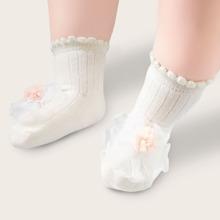 Baby Socken mit Blumen Dekor