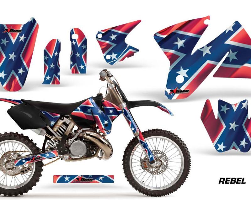 AMR Racing Dirt Bike Decal Graphic Kit Sticker Wrap For KTM SX/XC/EXC/MXC 1998-2001áREBEL