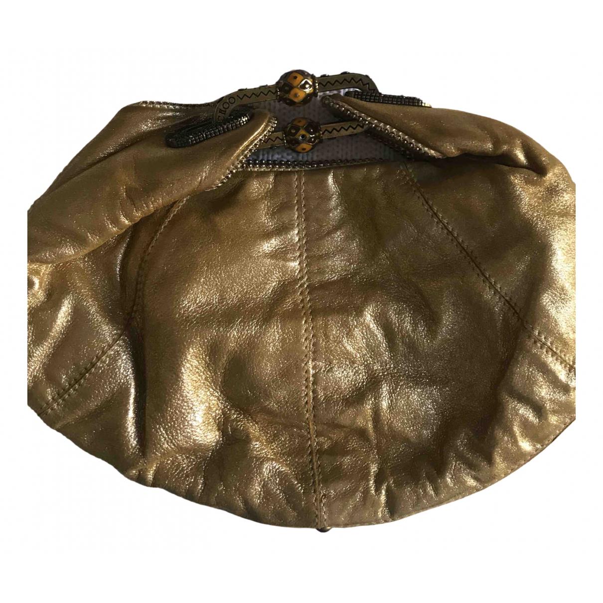 Jimmy Choo \N Clutch in  Gold Leder