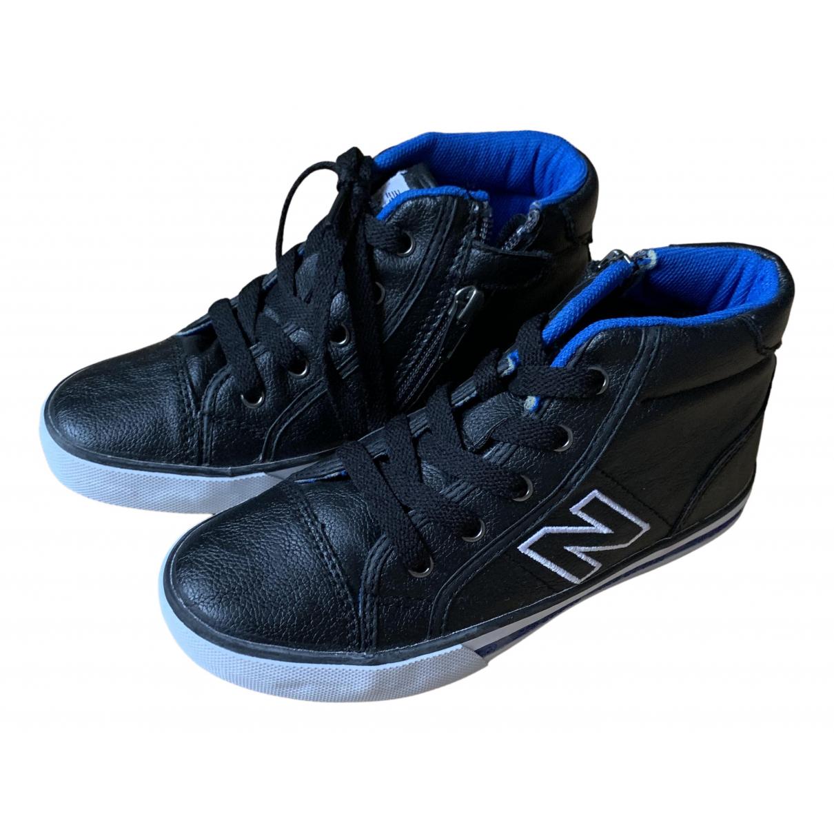 New Balance - Baskets   pour enfant en cuir - noir