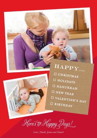 Holiday Photo Cards Flat Glossy Photo Paper Cards with Envelopes, 5x7, Card & Stationery -All The Holiday Feels