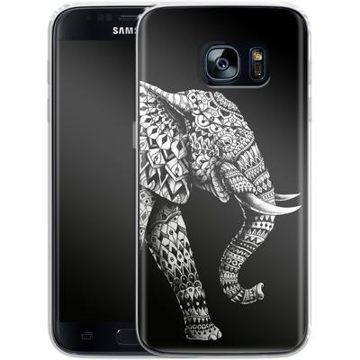 Samsung Galaxy S7 Silikon Handyhuelle - Ornate Elephant 3.0 von BIOWORKZ