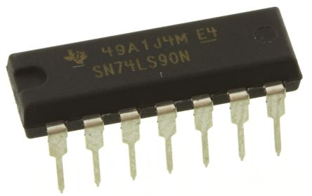 Texas Instruments SN74LS90N 4-stage Decade Counter, Up Counter, , Uni-Directional, 14-Pin PDIP (5)