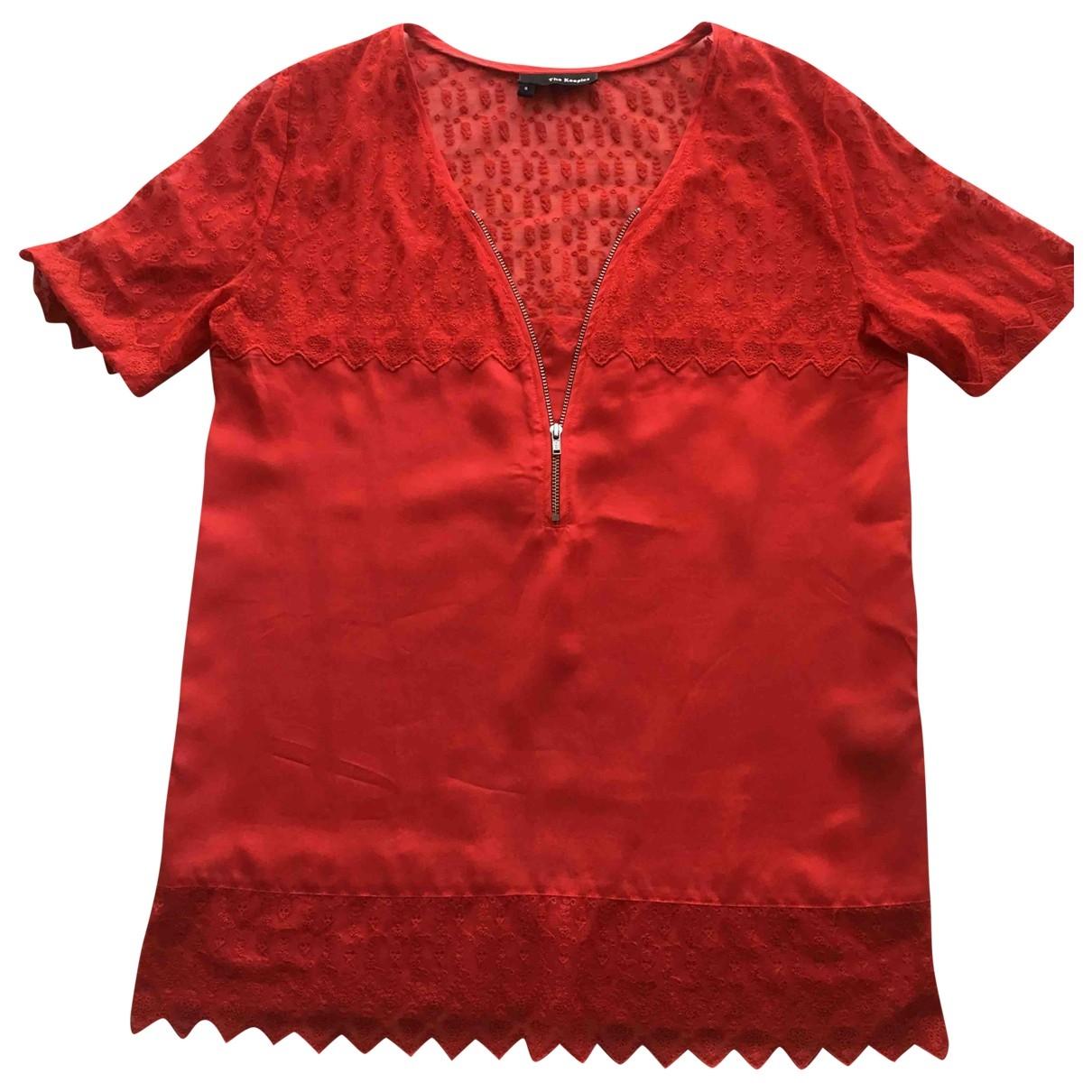 The Kooples \N Red Silk  top for Women 38 FR