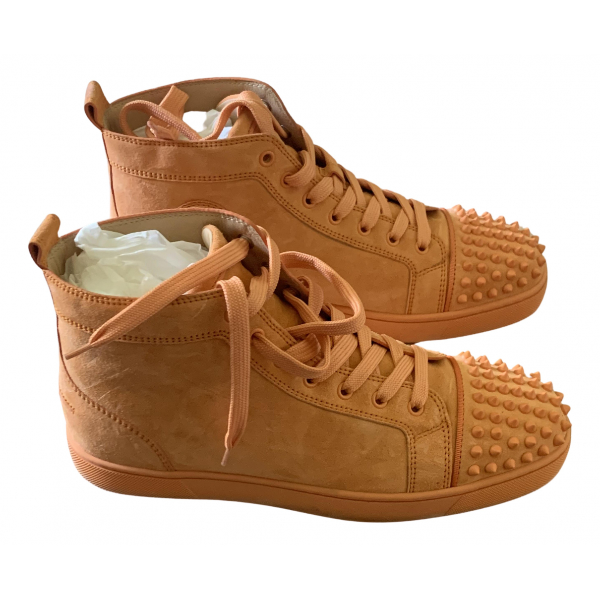 Christian Louboutin - Baskets Louis pour homme en suede - orange