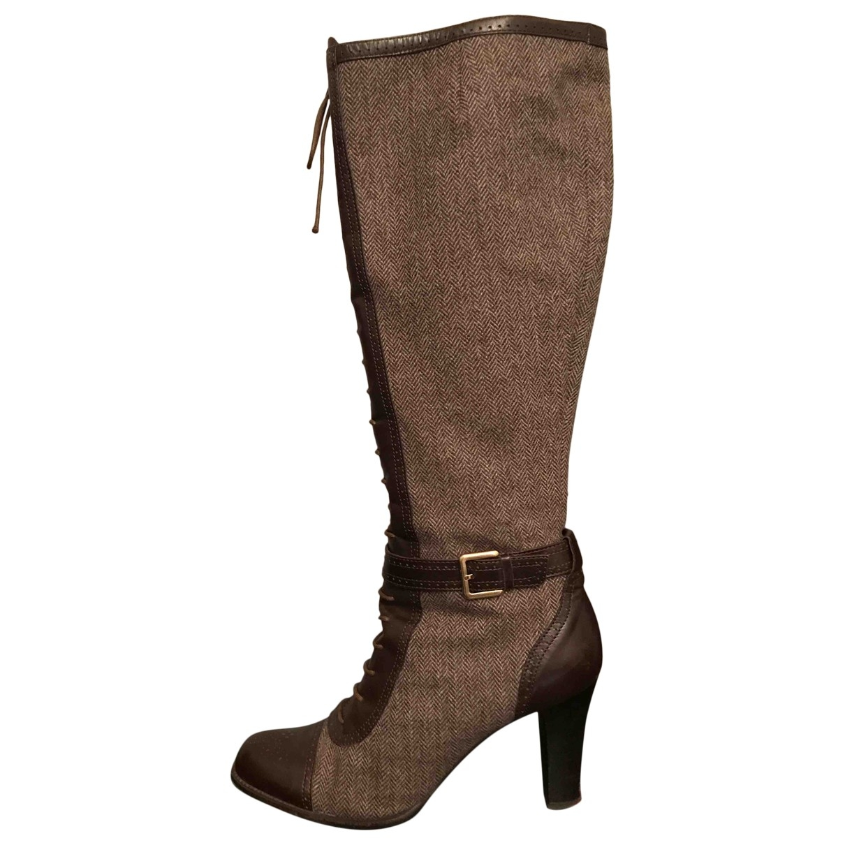 Bally \N Brown Tweed Boots for Women 40 EU