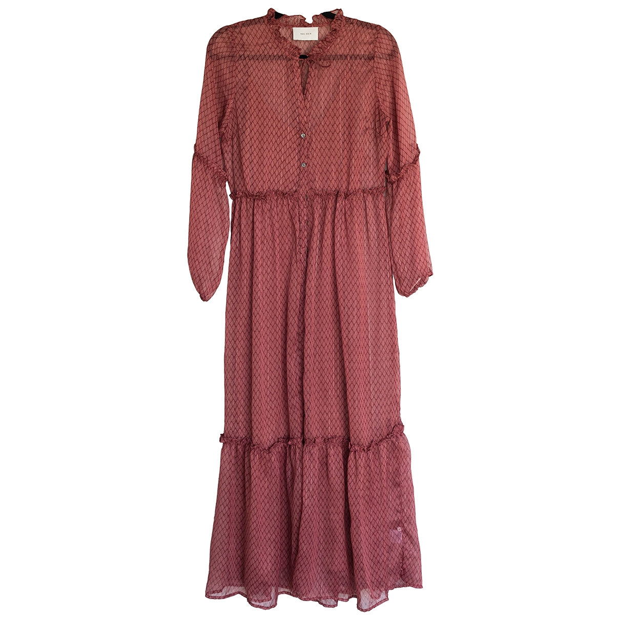 Non Signe / Unsigned Hippie Chic Kleid in Polyester