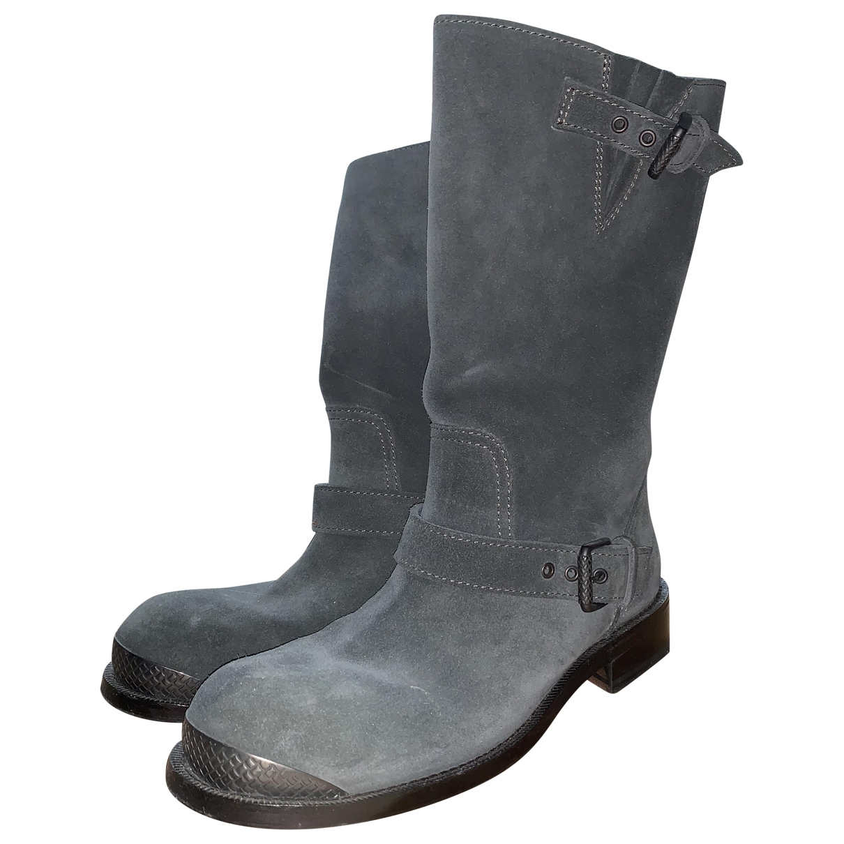 Bottega Veneta \N Anthracite Suede Boots for Women 40 EU