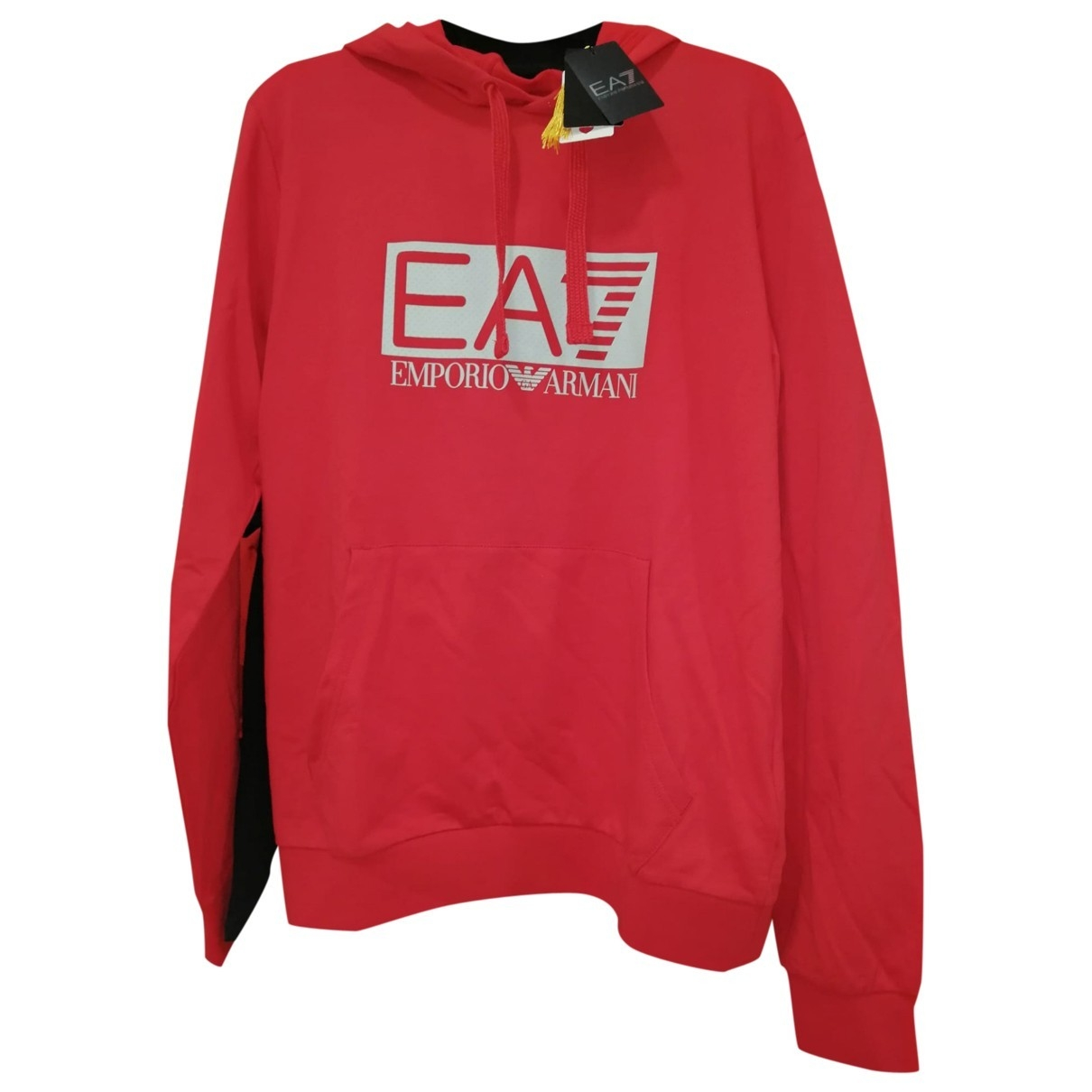 Emporio Armani \N Red Cotton Knitwear & Sweatshirts for Men L International