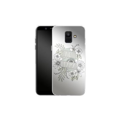 Samsung Galaxy A6 Silikon Handyhuelle - No Drama - Green von Barlena