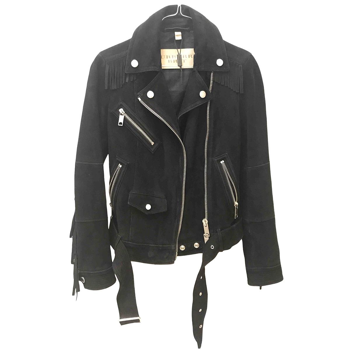 Burberry \N Black Suede jacket for Women 6 UK