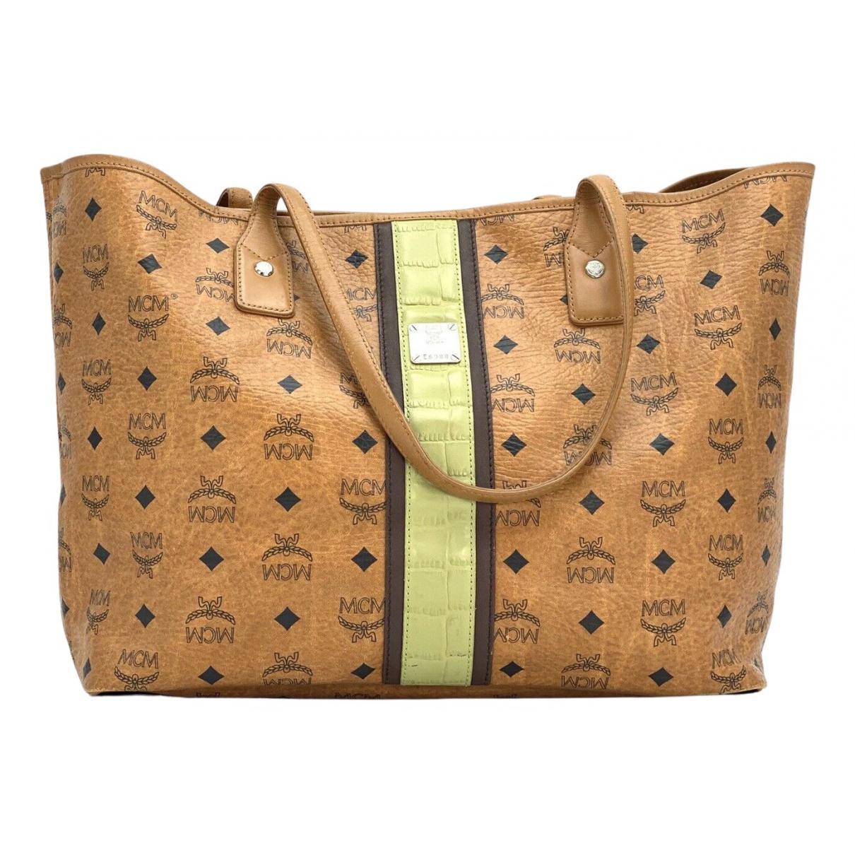Mcm \N Handtasche in  Kamel Leinen