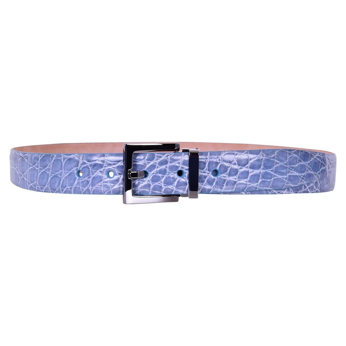Dolce & Gabbana \N Blue Crocodile belt for Men 80 cm