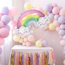 1 Stueck Regenbogen formiger Ballon